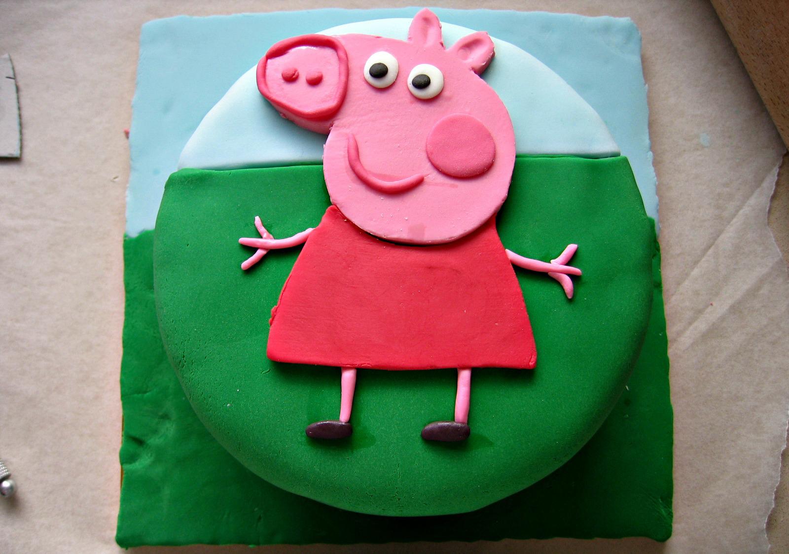 Детский торт своими руками. Торт со свинкой Пеппой 100