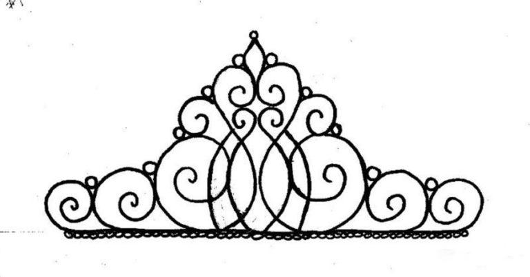 Корона на торт рисунок